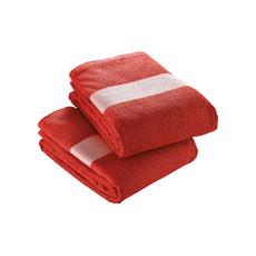 Telo in spugna di cotone con banda stampabile colore rosso