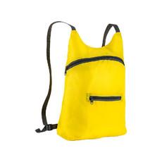Zainetto runner richiudibile in una tasca colore giallo