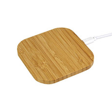 Base di ricarica wireless in bamboo 5w colore naturale
