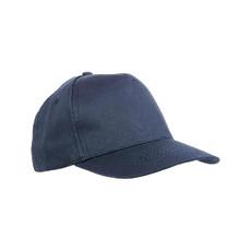 Cappellino 5 pannelli regolazione a velcro colore blu