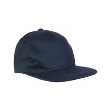 Cappellino 6 pannelli con visiera dritta colore blu
