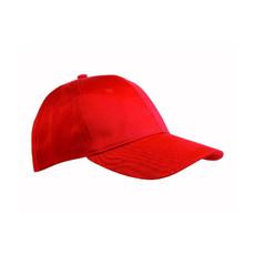 Cappellino 6 pannelli in cotone e poliestere colore rosso