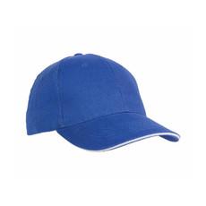 Cappellino 6 pannelli visiera sandwich colore royal