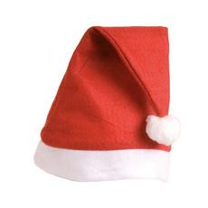 Cappellino Babbo Natale in panno colore rosso