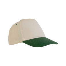 Cappellino in cotone naturale con visiera colorata colore verde
