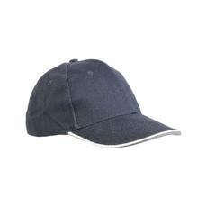 Cappellino in cotone pesante 6 pannelli  colore blu
