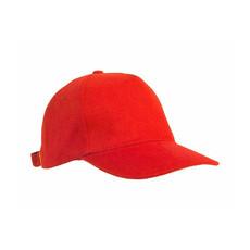 Cappellino in cotone pesante spazzolato colore rosso