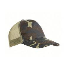 Cappellino mimetico con calotta a rete colore mimetico