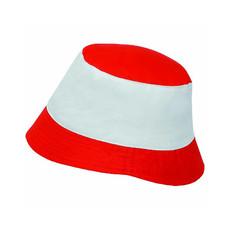 Cappellino modello Miramare bicolore colore rosso