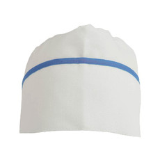 Cappello da cuoco con bordo colorato colore blu