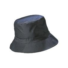 Cappello da pioggia in nylon e pile colore blu