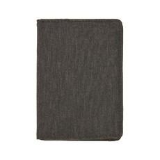 Porta carte di credito RFID in tessuto melange colore nero