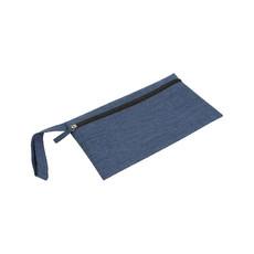 Porta documenti con pratica maniglia colore blu