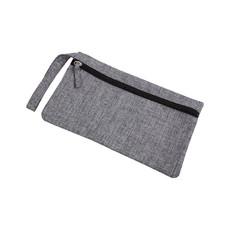 Porta documenti con tasca trasparente sul retro colore grigio