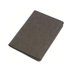 Porta passaporto in tessuto melange colore nero