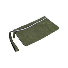 Portadocumenti in nylon washed colore verde scuro