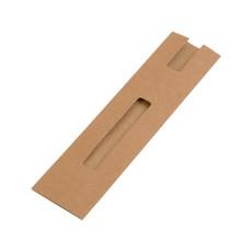 Astuccio porta penna in carta riciclata colore naturale