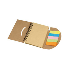 Block notes ad anelli in carta riciclata colore naturale
