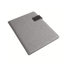Cartella congressi A4 in tessuto melange colore grigio