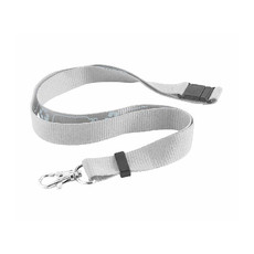 Lanyard in RPET colore bianco