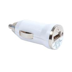 Micro caricabatterie USB da auto colore bianco