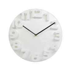 Orologio da parete con numeri in 3D colore bianco