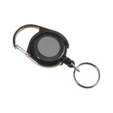Porta badge con portachiave colore nero