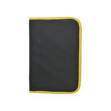Porta documenti polyes 600d nero+royal colore giallo