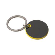 Portachiavi tondo in metallo colore giallo
