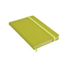 Quaderno in PVC con elastico colorato colore verde mela