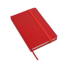 Quaderno in PVC con fogli bianchi  colore rosso