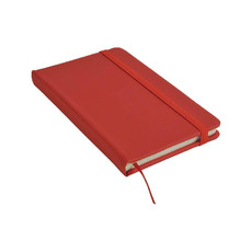 Quaderno in poliuretano colorato con fogli a righe colore rosso