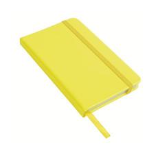 Quaderno in poliuretano in colore fluo colore giallo