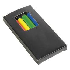 Set 6 matite colorate fluo in scatola colore nero