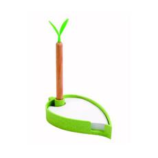 Set in paglia di grano con penna e foglietti colore verde mela