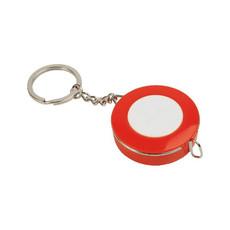 Flessometro in plastica con portachiavi colore rosso