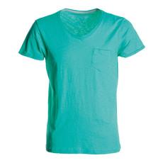t-shirt manica corta collo a V slubby jersey colorato Wild Payper