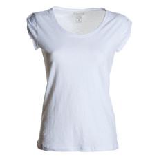 t-shirt donna manica corta slubby jersey bianco Discovery Lady Payper