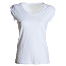 t-shirt donna manica corta slubby jersey bianco Neutral Discovery Lady Payper