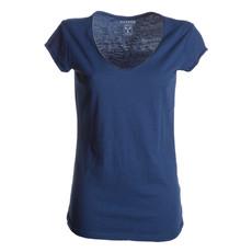 t-shirt donna manica corta collo moicano slubby jersey Illegal Lady Payper
