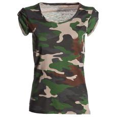 t-shirt donna manica corta slubby jersey mimetico Neutral Discovery Lady Payper