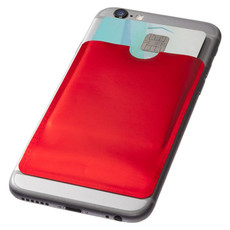 Porta carte di credito RFID da smartphone - colore Rosso
