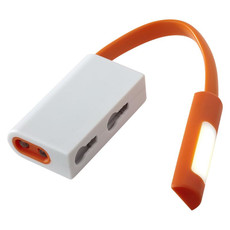 Torcia fissa e lampeggiante con calamita - colore Arancio/Bianco