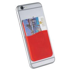 Porta carte sottile in silicone - colore Rosso
