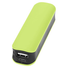 Powerbank 2000mAh Edge - colore Verde Lime/Nero