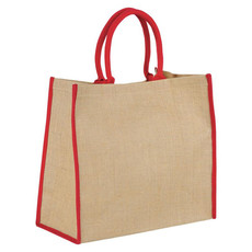Shopper in juta - colore Naturale/Rosso