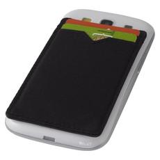 Doppio porta cards adesivo da smartphone RFID - colore Nero