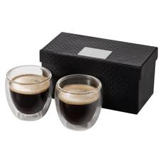 Set bicchierini espresso 2 bicchieri 80ml - colore Trasparente