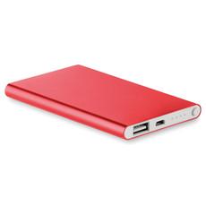Power bank in alluminio da 4000 mAh colore rosso MO8735-05