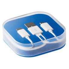 Box in plastica con 3 connettori colore blu royal MO9315-37